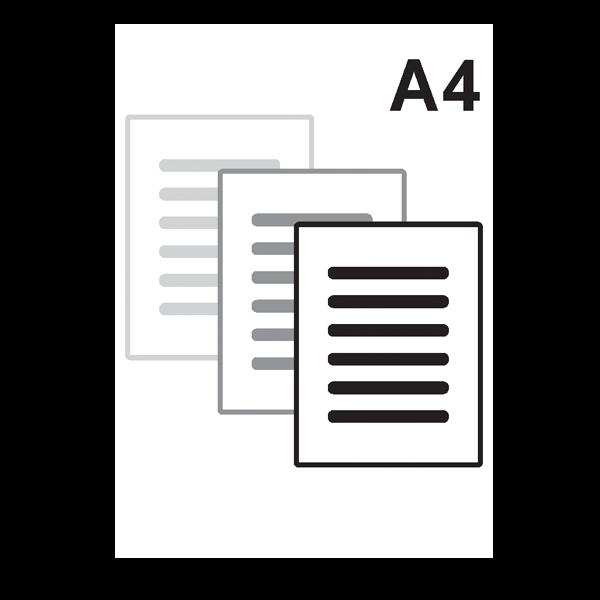 Impressão Preto e Branco A4 só frente