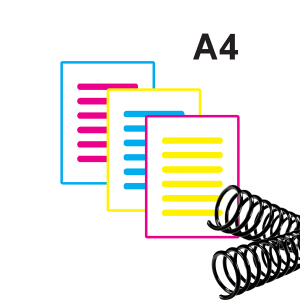 Apostila Colorida impressão Laser Papel Sulfite 75 gr A4 Colorida Laser  Encadernação Espiral