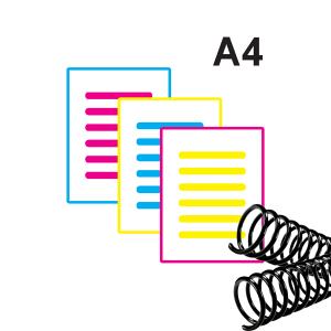 Apostila Colorida Jato de tinta Papel Sulfite 75 gr A4 Colorida jato de tinta Pigmentada  Encadernação Espiral