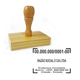 Carimbo Madeira CNPJ  6 x 4 cm