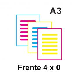 Impressão Colorida A3 Couche 115gr ou Alto Alvura 120gr A3 21 x 29,7 Impressão Colorida só frente