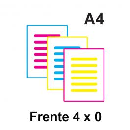 Impressão Colorida A4 Couche 115gr ou Alto Alvura 120gr A4 21 x 29,7 Impressão Colorida só frente