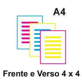 Impressão Colorida A4 Couche 115gr ou Alto Alvura 120gr A4 21 x 29,7 Impressão Colorida frente e verso