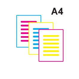 Impressão Colorida A4 Couche 150gr A4 21 x 29,7 Impressão Colorida
