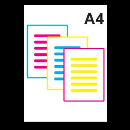 Impressão Colorida A4 Couche 250gr A4 21 x 29,7 Impressão Colorida