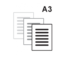 Impressão Preto e Branco A3 Alto Alvura 120gr A3 29,7 x 42 cm Impressão Preto e Branco