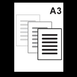 Impressão Preto e Branco A3 Sulfite 75gr A3 29,7 x 42 cm Impressão Preto e Branco