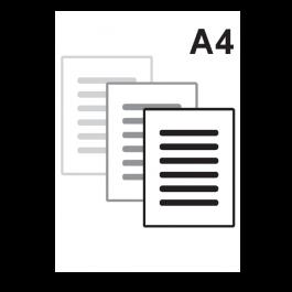 Impressão Preto e Branco A4 só frente Sulfite 75gr A4 21 x 29,7 Impressão Preto e Branco