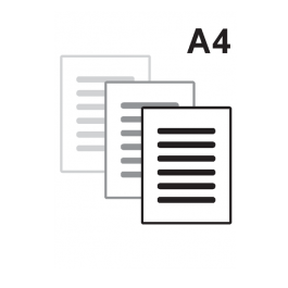 Apostila Preto e Branco A4 Sulfite 75gr A4 21 x 29,7 Impressão Preto e Branco