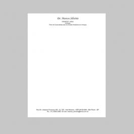 Receituario Sulfite 90gr A5 14,8 x 21cm Preto e Branco só Frente  Bloco de 100 Folhas